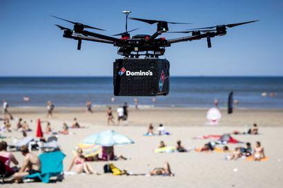 Onko tämä tulevaisuutta? Kun tilaat pizzan, sinulta kysytään haluatko kotiinkuljetuksen a) dronella vai b) robotilla