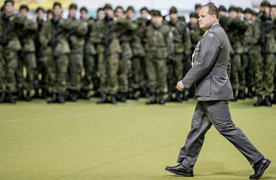 Kainuun Prikaatin komentaja Tuomo Repo toimii yhtenä virtuaalipuolustuskonferenssin avaajista. Arkistokuva.