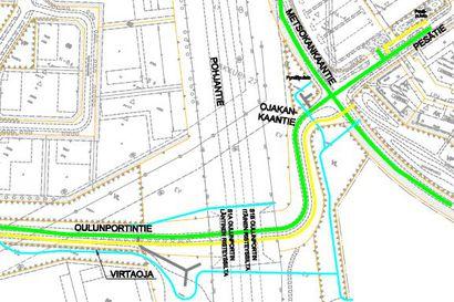 Oulunportin ja Kaakkurin välille rakennetaan uusi katuyhteys Pohjantien alitse