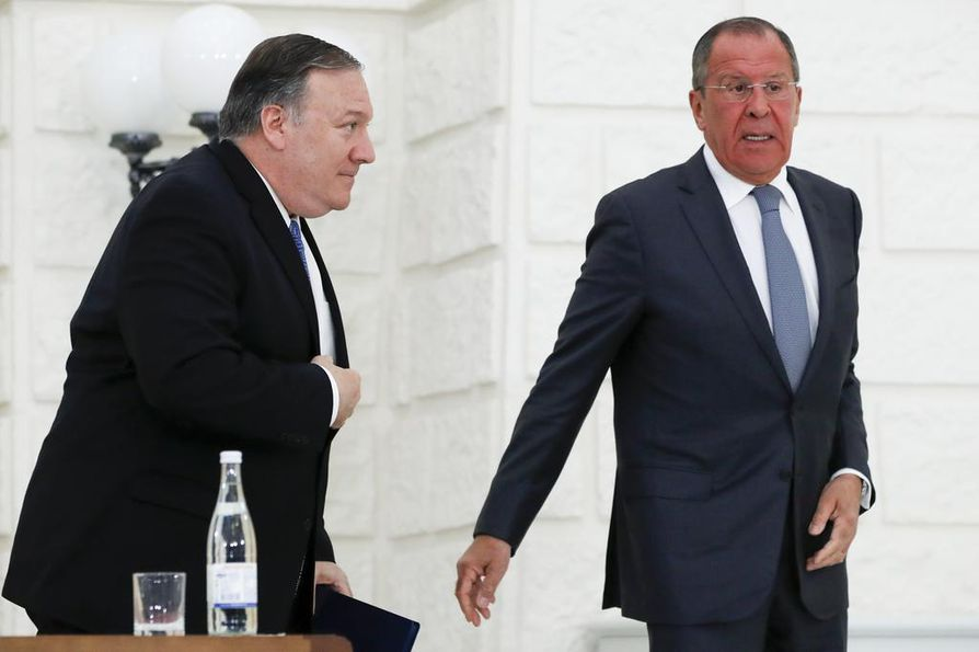 Yhdysvaltain ulkoministeri Mike Pompeo ja Venäjän ulkoministeri Sergei Lavrov tapasivat toisensa Sotšissa.