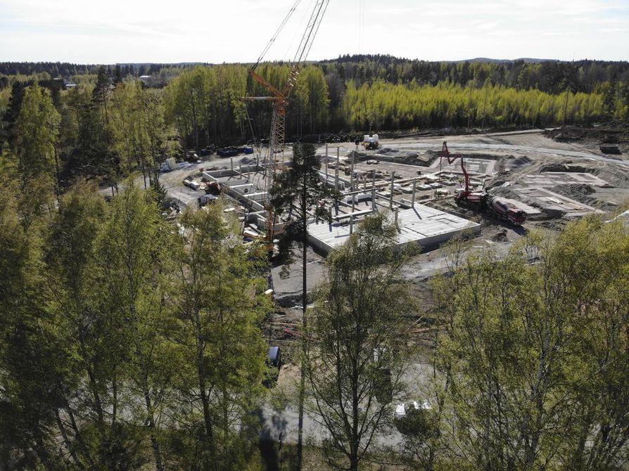 Kuva Hämeenlinnan vankilatyömaalta.