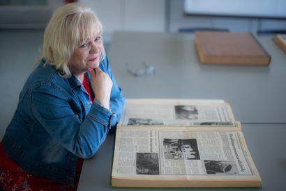 Aina valmis uuden taidon oppimiseen - Merja tuli Koillissanomiin kesätöihin heinäkuussa 1975 ja jäi taloon 45 vuodeksi