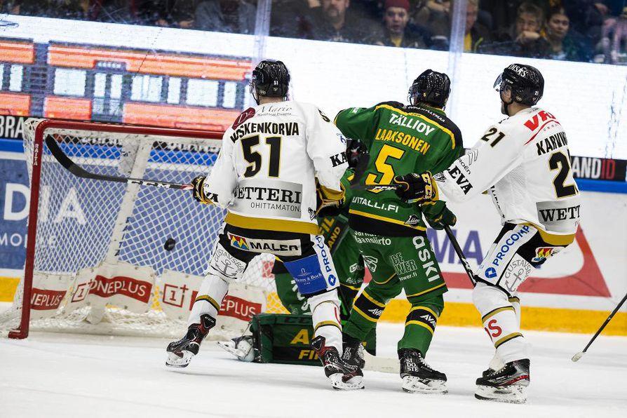 Kärppien viimeisestä 1–3-maalista vastasi Jesse Koskenkorva.