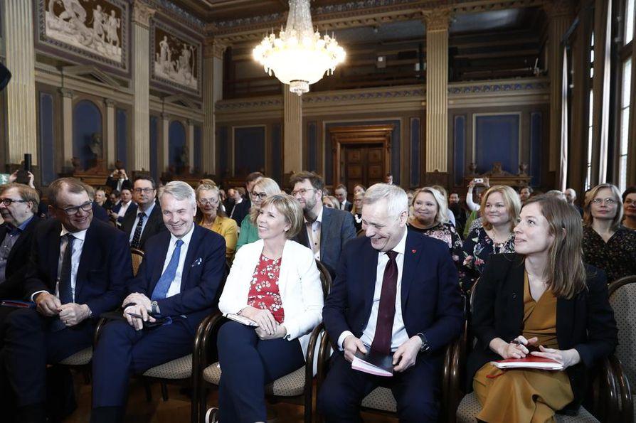 Hallitusneuvotteluihin osallistuvat SDP, keskusta, vihreät, vasemmistoliitto ja RKP.