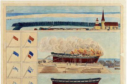 Raahen telakat rouhusivat toukokuun viimeisenä päivänä 1854