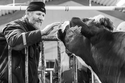 Rovaniemeläinen Mari Parpala palkittiin valtakunnallisessa karjatilojen valokuvakilpailussa – voittajakuvaan taltioitiin isoisän ja tilan vanhimman lehmän kohtaaminen