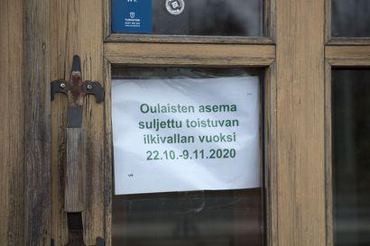 Oulaisten rautatieaseman odotustila on tilapäisesti suljettu