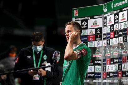 Bundesliigan perinneseura on pahassa pulassa – Niklas Moisanderin kipparoimaa Werder Bremeniä uhkaa putoaminen 39 vuoden pääsarjaputken jälkeen