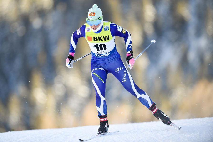 Krista Pärmäkosken voimat eivät riittäneet maastohiihdon maailmancupin vapaan hiihtotavan sprintin loppukilpailussa.