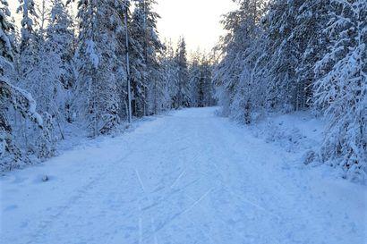 Posiolla päästiin jo hiihtämään luonnonlumelle