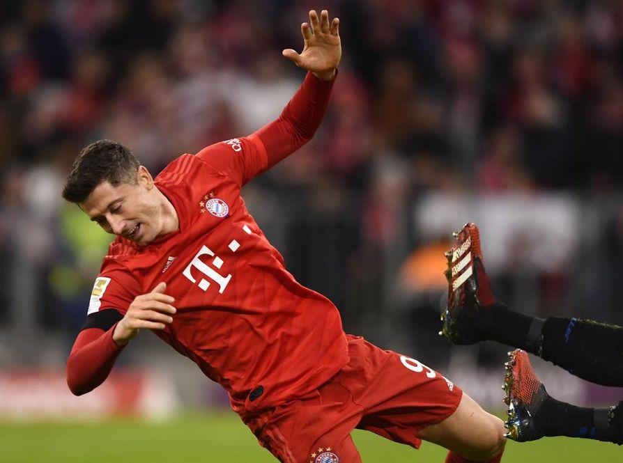 Robert Lewandowski on urakoinut maaleja Bayern Münchenin joukkueessa.