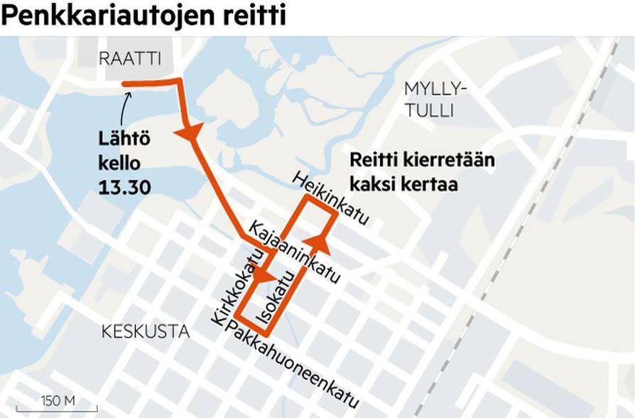 Penkkariajelut näkyvät torstaina keskusta-alueen liikenteessä.