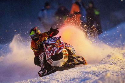Tornion Laivakangas toisen kerran tälle talvelle kelkkacrossin SM-osakilpailun näyttämönä
