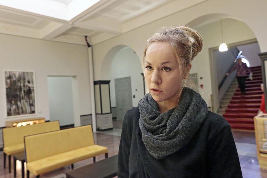 Hanna Sarkkinen on vasemmistoliiton oululainen kansanedustaja. Arkistokuva.