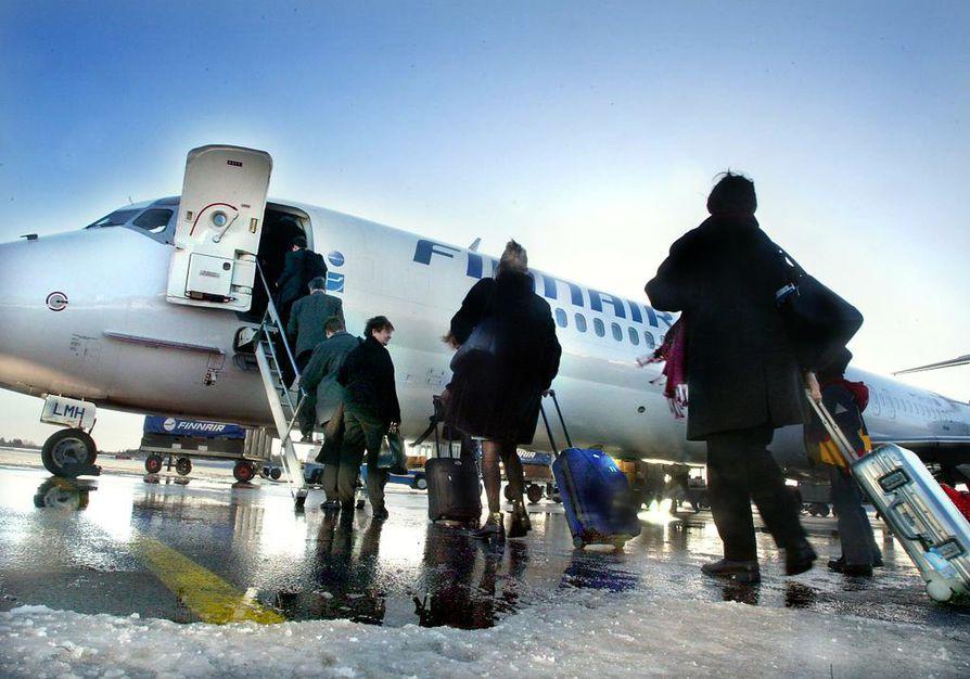Lentoreitin avaamisesta Rovaniemeltä Pekingiin Kiinaan sovittiin Suomen ja Kiinan välisissä neuvotteluissa uudesta lentoliikennesopimuksesta. Arkistokuva.