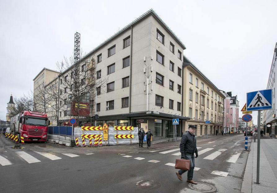 Poliisin asiakaspalvelulle rakennetaan pysyvät tilat keskustaan Kirkkokatu 13:een.