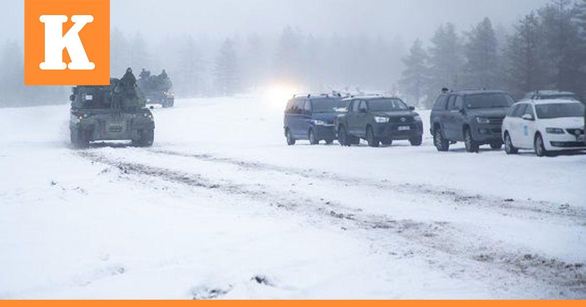 Maavoimien harjoitus Rovajärvellä päättyy perjantaina  paluumarssijat liikkuvat...