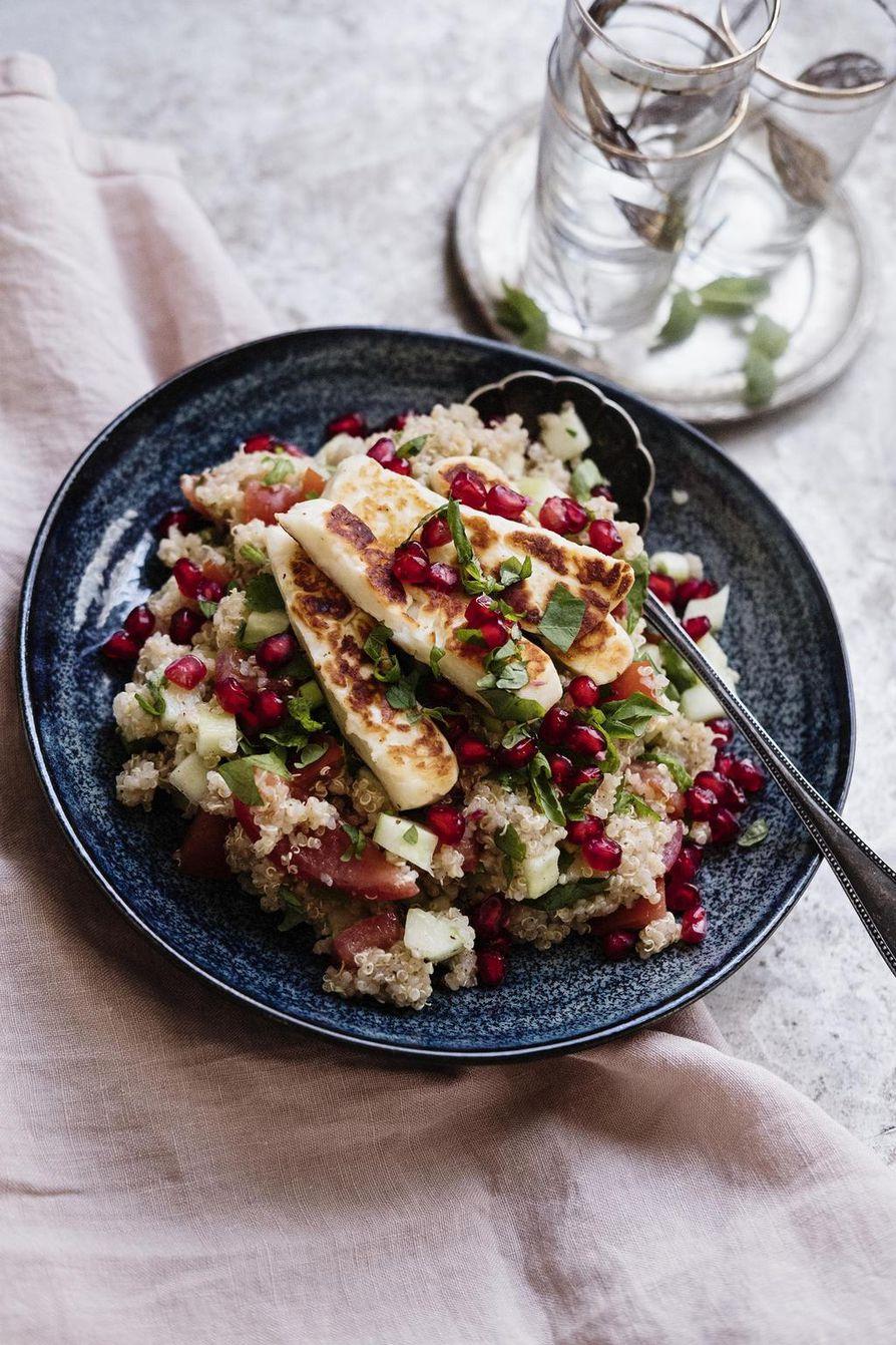 Libanonilaisessa tabbouleh-salaatissa maistuu kaneli ja minttu.