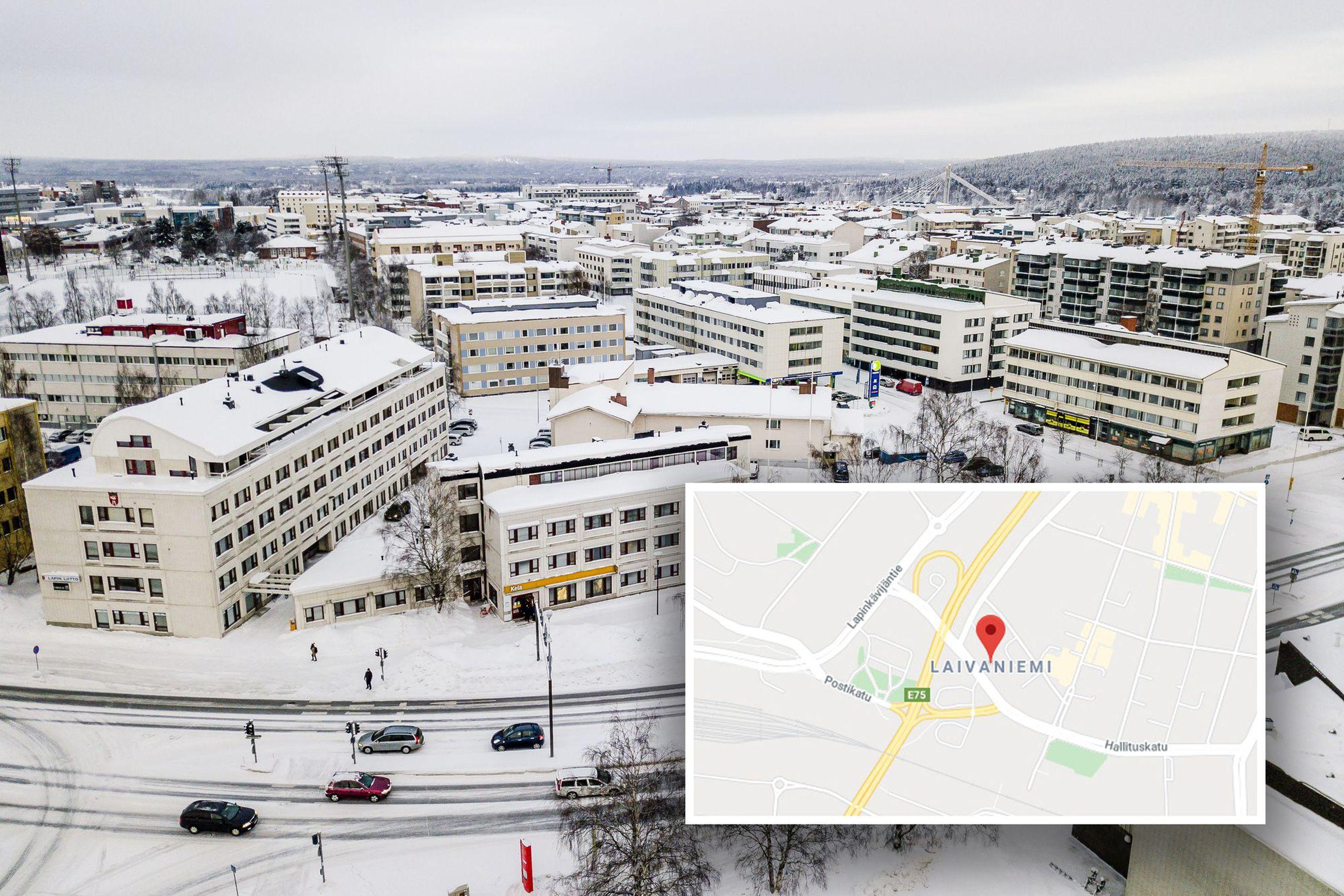 Googlen Kartan Mukaan Rovaniemen Keskustan Nimi On Laivaniemi