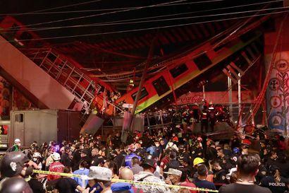 Meksikossa ainakin 20 ihmistä on kuollut tuhoisassa metroturmassa