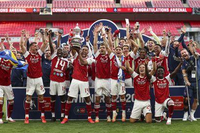Arsenal voitti Englannin cupin Aubameyangin maalien ansiosta