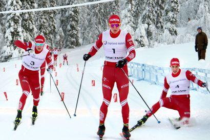 """Bolshunov piti Oloksen sprintissä pintansa venäläisten """"jäsentenvälisissä"""""""