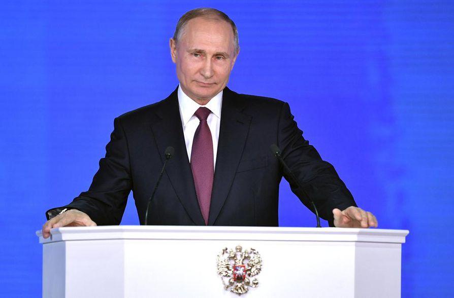 Vladimir Putin piti vuotuisen puheensa parlamentille.