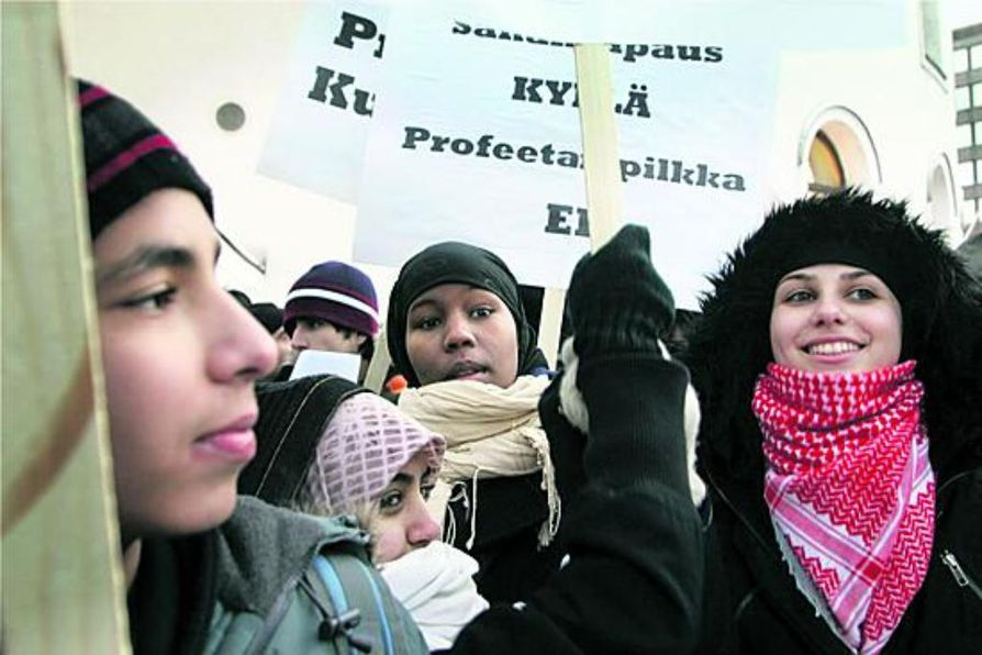 Mielenosoittajien lisäksi Muhammed-pilakuvat ovat herättäneet KRP:n.
