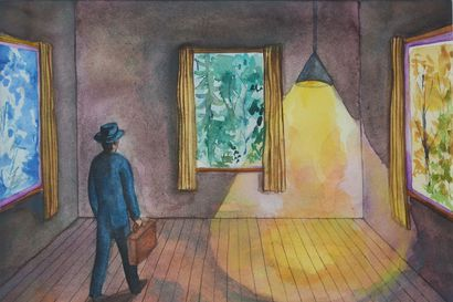 Kalervo Palsa läpimurron kynnyksellä: Kittilän outo taiteilija sai vihdoinkin arvostusta ja matkusti maailmalla