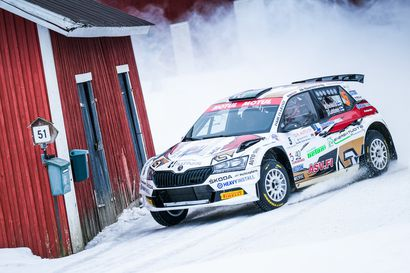 Mikko Heikkilä maistoi harvinaista herkkua Kouvolan SM-rallissa
