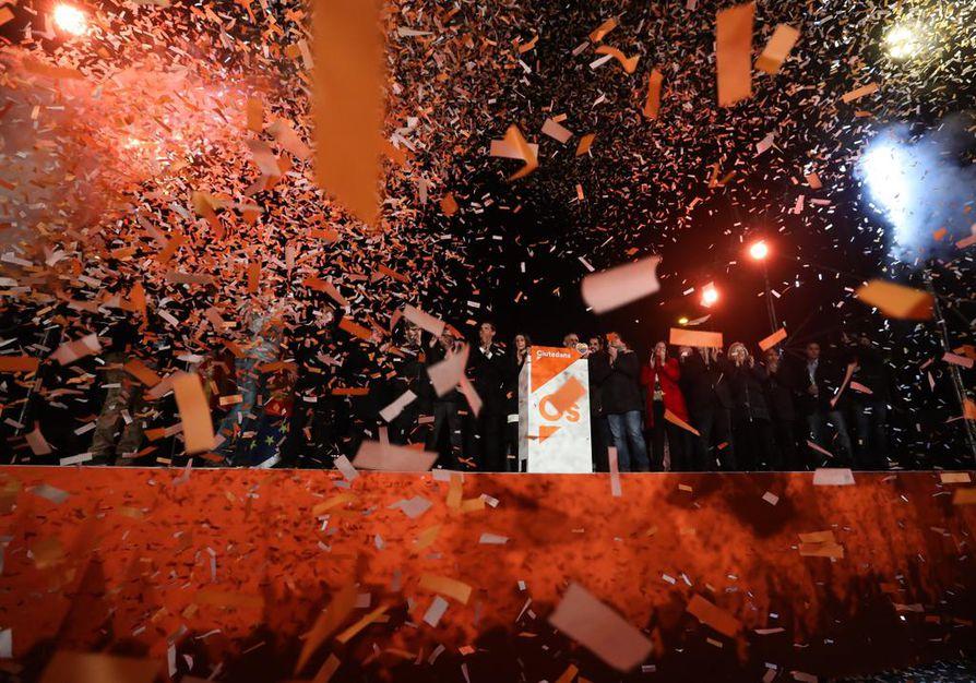 Kataloniassa juhlittiin kansanäänestyksen tulosta.
