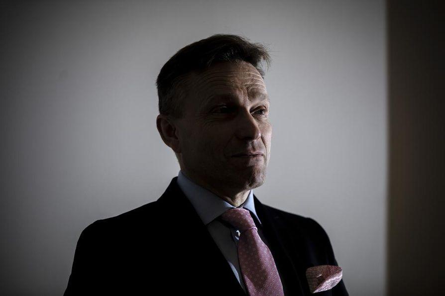OP Ryhmän pääjohtaja Timo Ritakallio oli tyytyväinen johtamansa finanssikonsernin tulokseen.