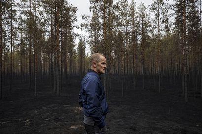 """Muhoslaiselle metsänomistajalle palanut metsä tuo mieleen alueella 50 vuotta sitten riehuneen tulimassan – """"Menetettyä rahaa enemmän suren pönttöihin kärventyneitä linnunpoikasia"""""""