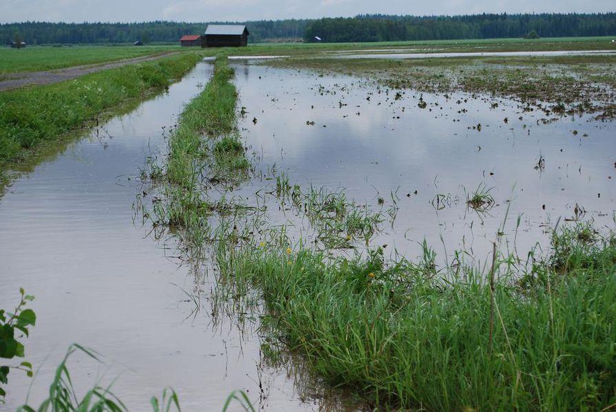 Vajaassa vuorokaudessa vettä satoi 120 millimetriä Matkanivan ja Perikankaan alueella.