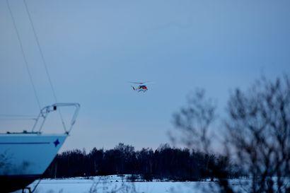 Kadonnut nainen löytyi Raahen edustalta: Rajavartiolaitos tuli helikopterin kanssa avuksi
