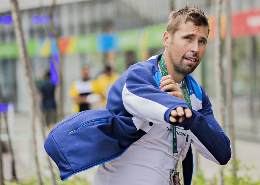 Keihäänheittäjä Antti Ruuskanen kuvattuna Rion olympialaisissa.