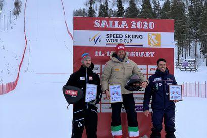 Britta Backlund ja Simone Origone voittoihin nopeuslaskun maailmancupissa Sallassa