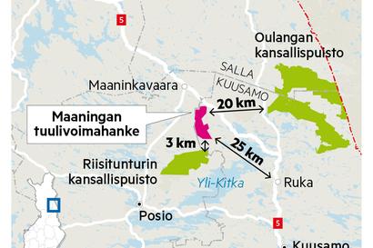 Kuusamon kaupunki päätti hakea valituslupaa KHO:lta Maaningan tuulivoimakaavasta – päätöksestä jätettiin eriävä mielipide