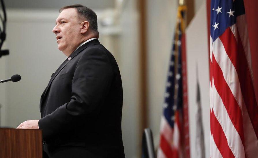 Yhdysvaltain ulkoministeri Mike Pompeo puhui Trumpin hallinnon Iran-strategiasta Stanfordin yliopistossa maanantaina.