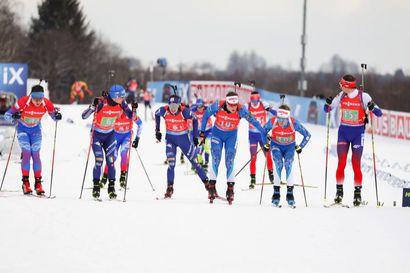 Suomen ampumahiihtomiehet 16:nneksi Nove Meston maailmancupissa