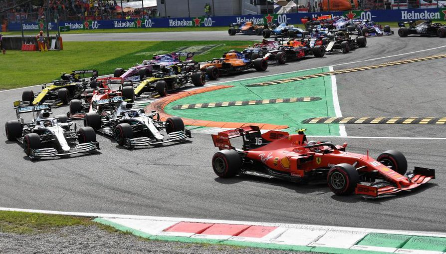 Ferrarin Charles Leclerc ajoi Monzan GP:n voittoon.
