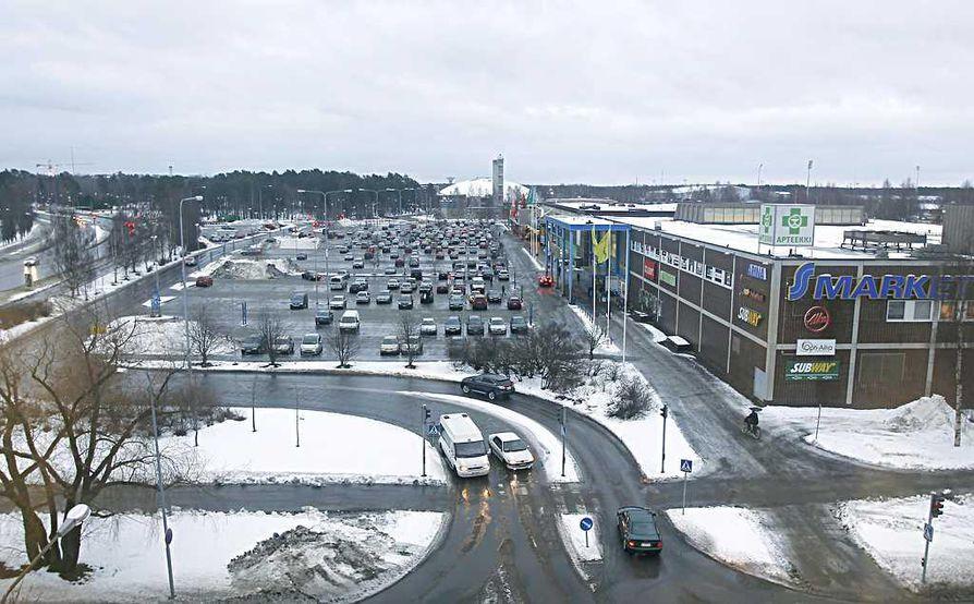 Raksilan markettien alue on tarkoitus uudistaa seuraavien vuosien aikana.