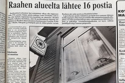 Vuosien takaa: 30 vuotta sitten Raahen seutukunnassa oli 27 postikonttoria