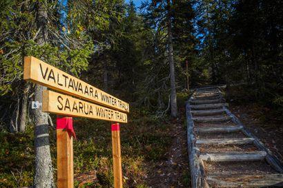 Valtavaaralle johtavaa polkua uuteen paikkaan –käytöstä poistettu noin 650 metrin mittainen reittiosuus