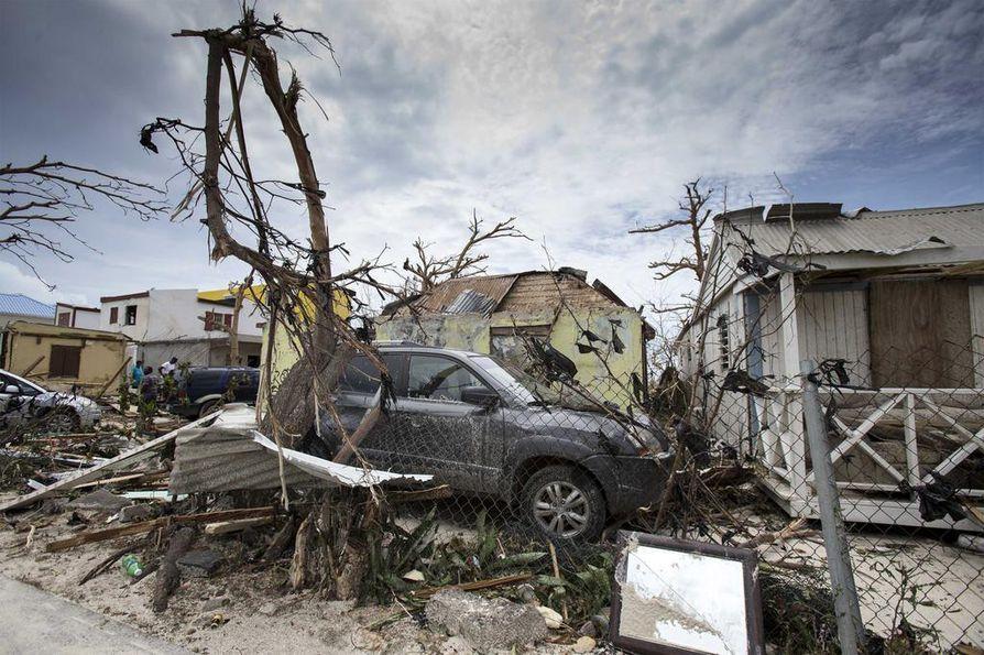 Hurrikaanit ovat tehneet tuhoa Karibianmeren saarilla. Kuva Saint Martenin saarelta.
