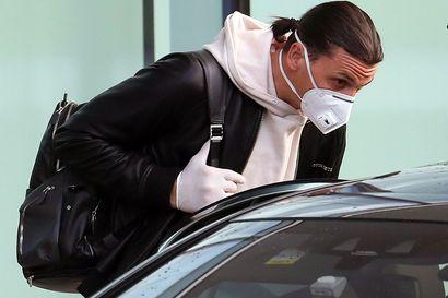 Zlatan palasi Italiaan ja suuntasi kahden viikon karanteeniin