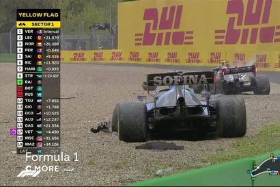 Analyysi: Imolan F1-osakilpailu tarjosi uuden luvun Max Verstappenin ja Lewis Hamiltonin rajuun kaksintaisteluun – Valtteri Bottas joutui hurjaan onnettomuuteen