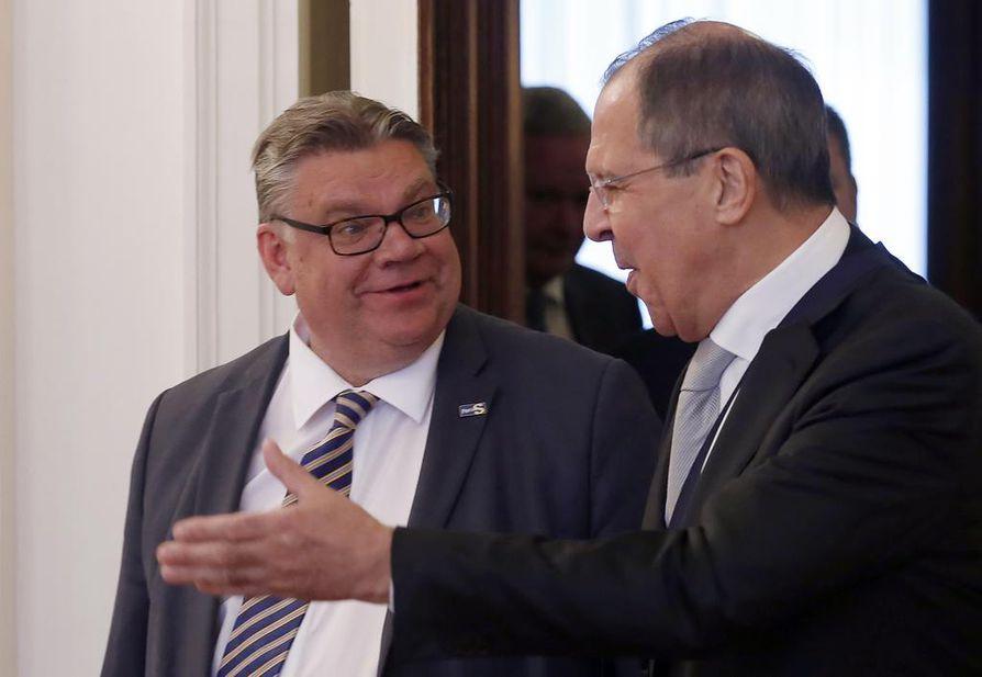 Timo Soini ja Sergei Lavrov tapaavat tiistaina Moskovassa.