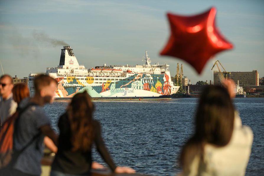 Italialaisessa omistuksessa olevan Moby SPL:n Princess Anastasia -laiva seilaa Helsingin ja Pietarin välillä.