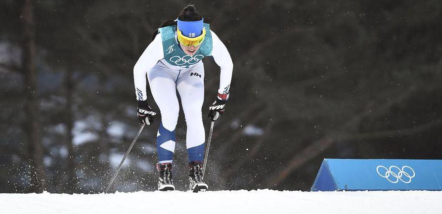Krista Pärmäkoski on ainoa suomalainen naisten sprinttien välierissä.